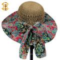 2015 New Fashion Casual Summer Wide Large Brim Cap Sweet Women Straw Hat