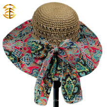 2015 New Fashion Casual Summer Wide Large Brim Cap Sweet Women Straw Hat
