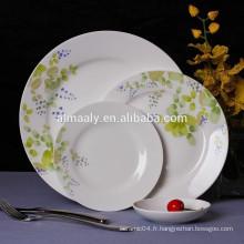 Assiette à dîner en porcelaine de 10,5 po