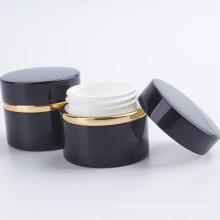 Pot de crème cosmétique acrylique de conception ronde