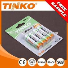 1.2 v NI-MH pré-carregadas bateria AAA/AA/C/D/9V tamanho