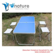 Mesa de alumínio e cadeira de campismo mesa de jardim