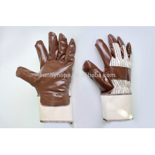 Brown safety cuff Waterproof gloves