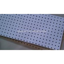 Melamine faced hardboard pegboard/peg board hardboard