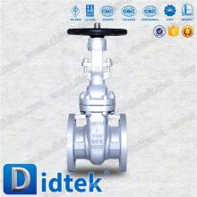 Didtek China Industrie Öl Verschraubte Mütze Handrad Guss elastische Absperrschieber