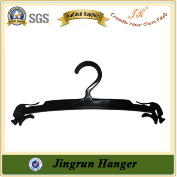 Europe Bestselling Lingerie Hanger Black Plastic Hanger With Bar