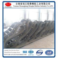 Corrugado de banda lateral de goma para la máquina minera, banda lateral