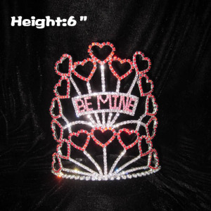 Red Heart Shaped Valentines Pageant Crowns
