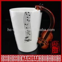 Taza de café de la música de la porcelana