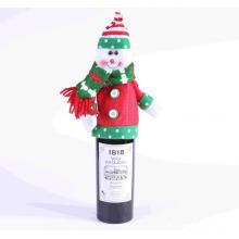 Decoración de botellas navideñas
