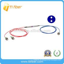 1 * 2 FC APC singlemode PM fibra óptica divisor