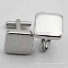 Faça seu próprio aço inoxidável em branco Cufflinks
