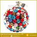 Nouvelle mode cristal coloré pavé shamballa boucles d'oreilles pendentifs charmes