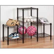 Chrome Living Room Metal Wire Rack (CJ454580B3E)