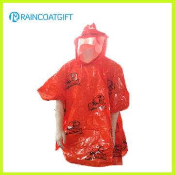 Promotional Logo Printed Wholesale Waterproof PE Rain Cape