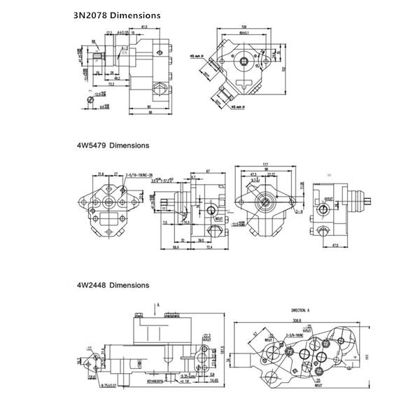 Cat pumps Dimensions-4
