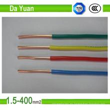 Cable eléctrico sólido de cobre flexible de PVC