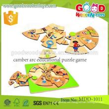 Nueva popular caliente venta camber rompecabezas de arco rompecabezas educativo de madera juego MDD-1011