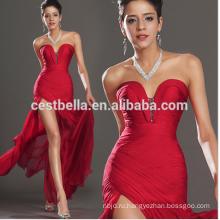 Оптовая Продажа Женщины Красный Сексуальное Вечернее Платье Сторона Сплит Платье Уникальный Дизайн Красный Вечерние Платья Длинная Сторона Открыта