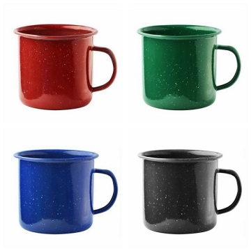 Taza de café que acampa del esmalte de la serie clásica