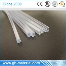 Profissional alta lágrima força clara tubo quadrado pvc fábrica