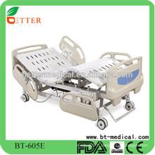 Lit médical électrique cinq fonctions ICU avec RCR