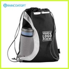 Bolso promocional Nylon Drawstring / mochila de cordón reforzado con PU esquinas RGB-029