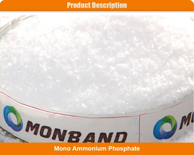 Monoammonnium phosphate (MAP 12-61-00) 99%min white crystal