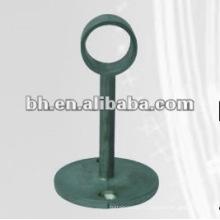 Support en rideau en acier inoxydable, support en rideau carré en métal, support pour piste