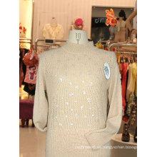 suéter largo de cachemira