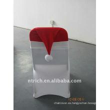 Banda de sombrero de Navidad, cubierta de silla de Lycra, cubierta de silla de hotel / banquete / boda, banda de licra