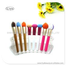 Nueva madera maquillaje profesional pinceles pincel de maquillaje personalizado
