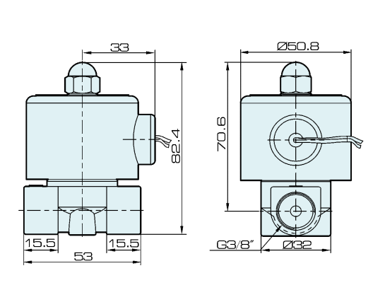 2S040-10 Stainless Steel Body NC 2 Way Electromagnetic Valve