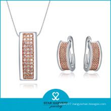 Hot Fashion Two-Tone Plating Sterling Silver Jewelry (SH-J0009E)