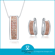 Hot moda de dois tons chapeamento de jóias de prata esterlina (SH-J0009E)