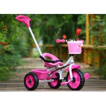 Passeio por atacado barato do bebê da fábrica na criança do triciclo das crianças dos brinquedos com barra da tração