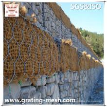 Panier tissé galvanisé de Gabion / maille en acier de Gabion pour des murs de soutènement