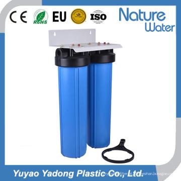 Filtro de água azul grande de dois estágios