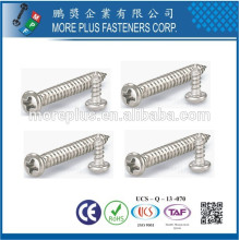 Made in Taiwan M2.8X8mm Zinc Plated Cross Recessed Drive Pan Head Self Tapping Screws