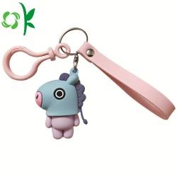 High Quality Cartoon Horse Keychain Silicone Keyring