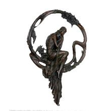 Рельеф Латунь Статуя Женский Рельеф Резьба Бронзовая Скульптура Т-691