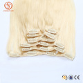 New fashion products 2016 high quality remy human hair clip extensions