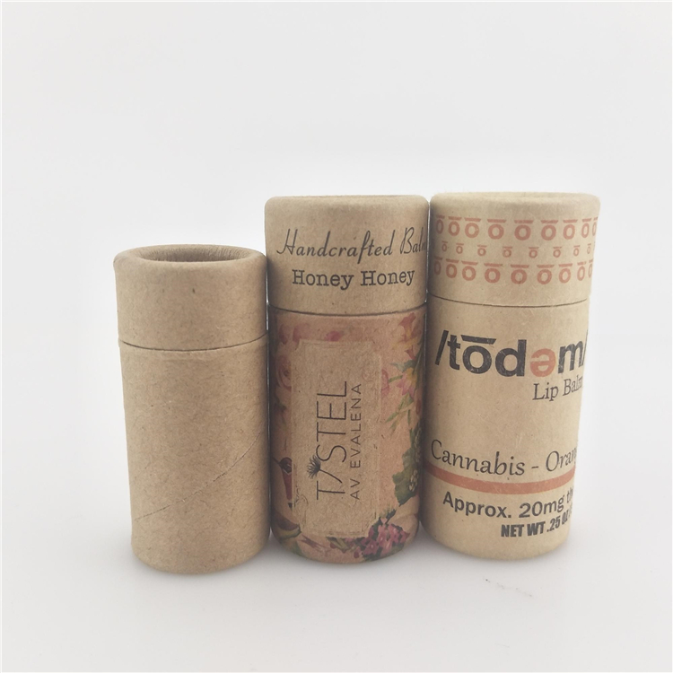 Recycled Cylinder Lip Gloss Tube Packing Box