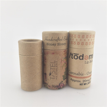 Reciclado Cilindro Lip Gloss Tube Packing Box