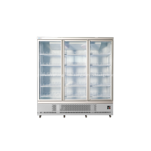 Kommerzieller Kühlschrank mit drei Glastüren