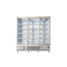 Commercial three glass door upright display fridge