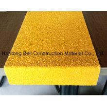 Cubierta Stairtread FRP / GRP, Stairtread de fibra de vidrio, Nariz de escalera antideslizante.
