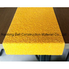 FRP/GRP Stairtread Cover, Fiberglass Stairtread, an-Slip Stair Nosing.