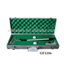 высокое качество портативных алюминиевый корпус для гольфа набор оптовых продаж