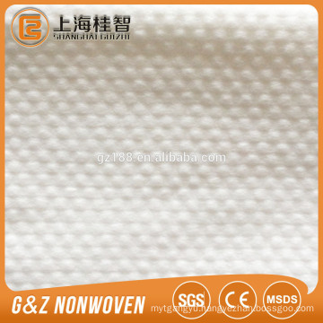 100% viscose fabric non-woven spunlace nonwoven fabric wipes small dot embossed non-woven fabric